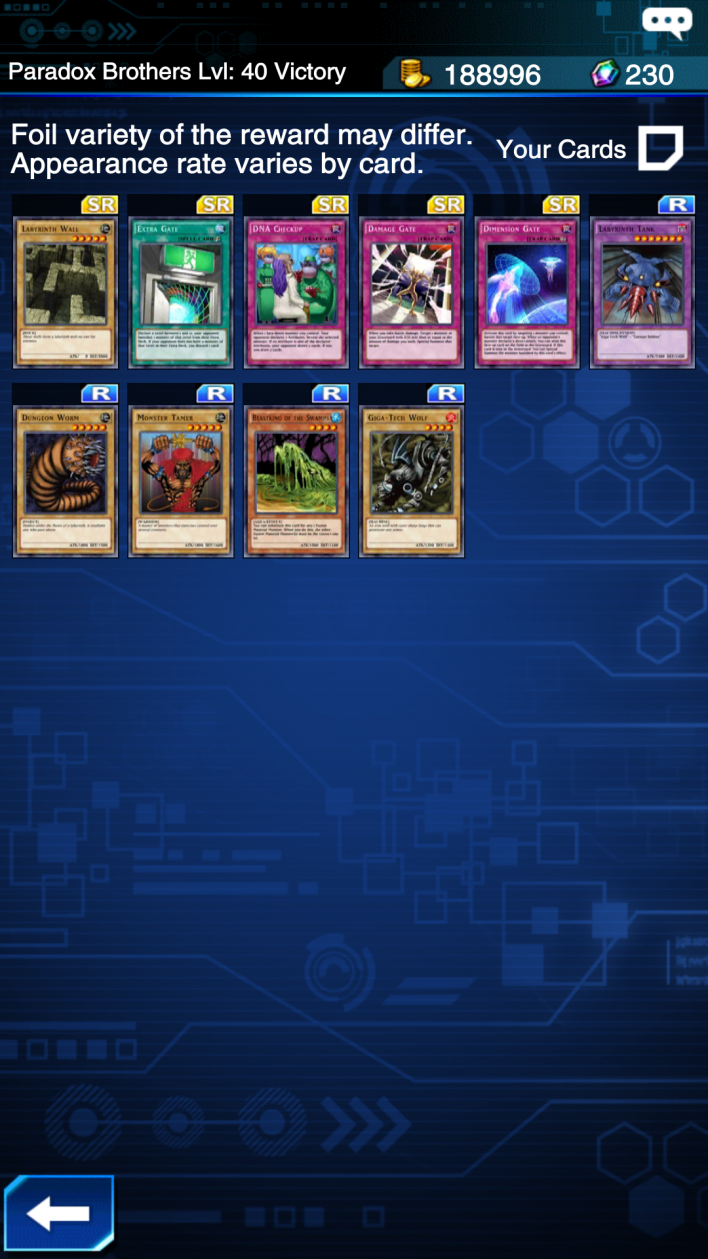 paradoxr duel links ewards