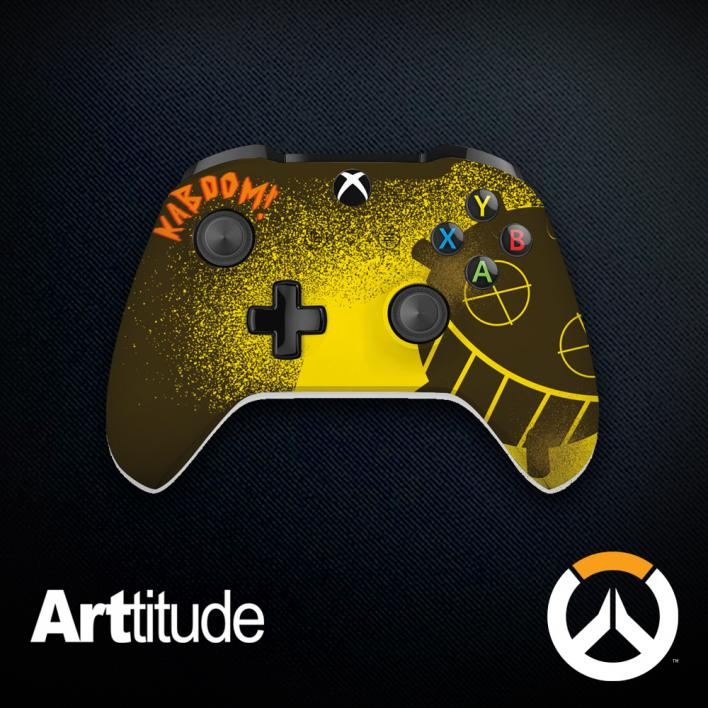 junkrat custom overwatch controller arttitude blizzard ps4 playstation 4 xbox one