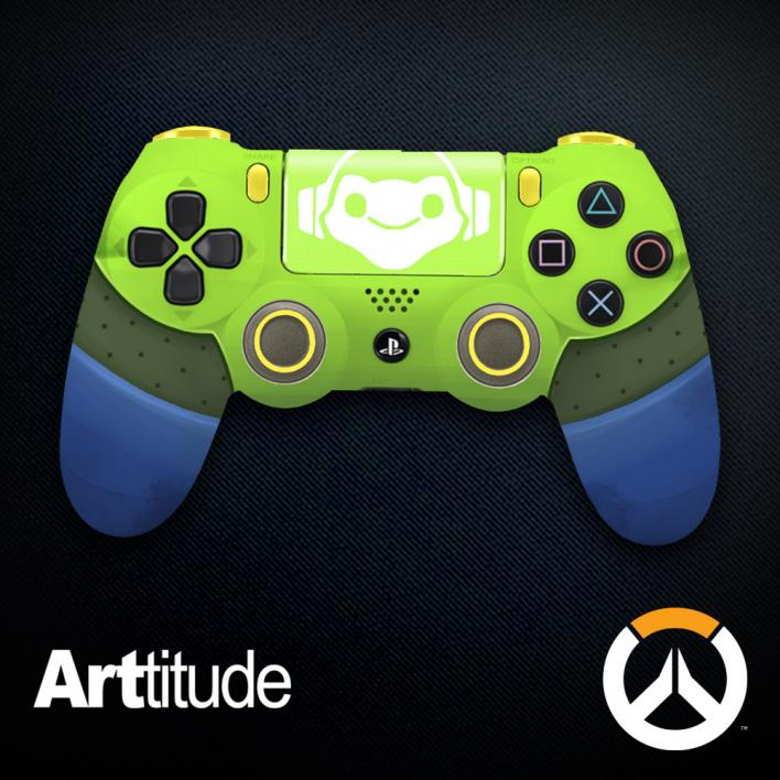 lucio custom overwatch controller arttitude blizzard ps4 playstation 4 xbox one