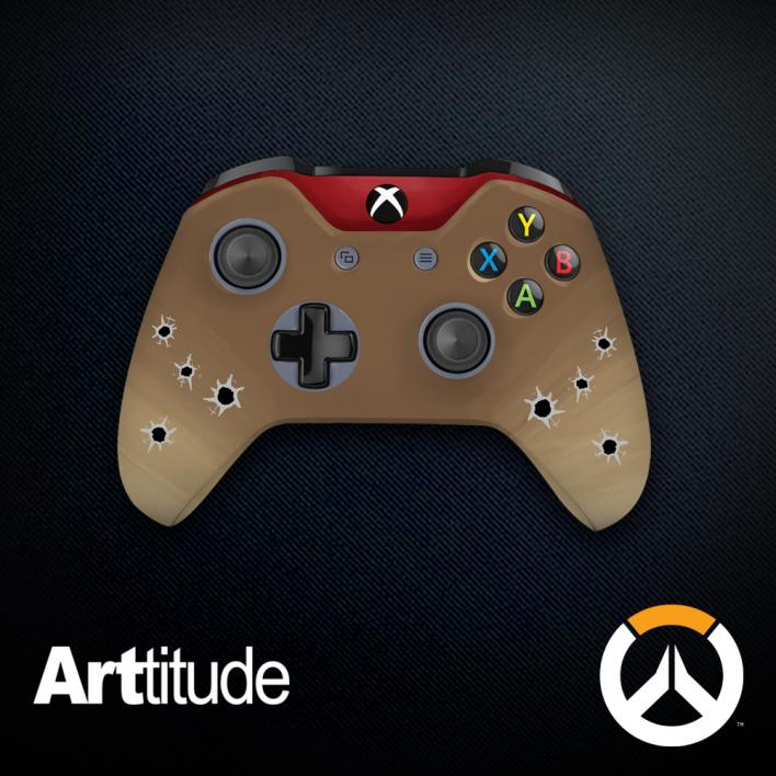 mccree custom overwatch controller arttitude blizzard ps4 playstation 4 xbox one