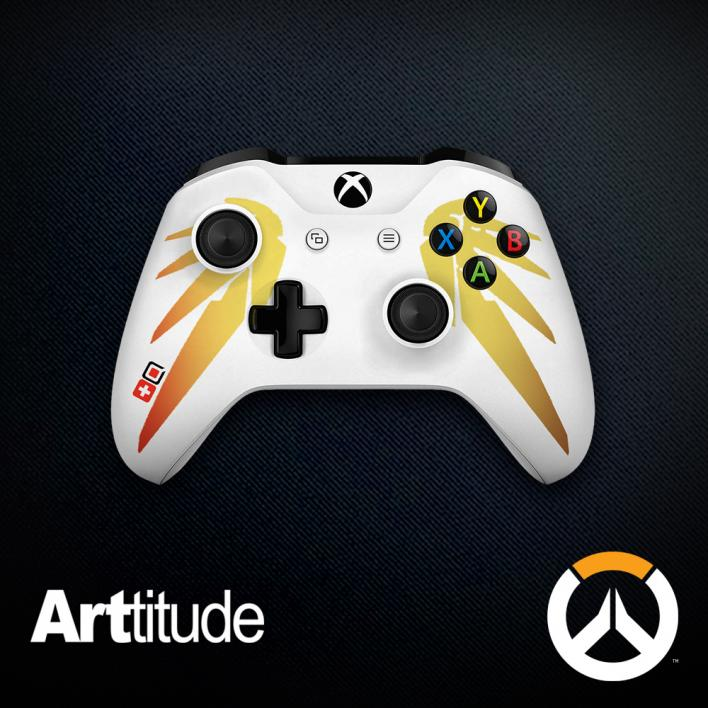 mercy custom overwatch controller arttitude blizzard ps4 playstation 4 xbox one