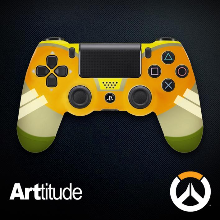 orisa custom overwatch controller arttitude blizzard ps4 playstation 4 xbox one