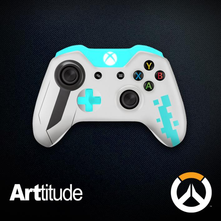 symmetra custom overwatch controller arttitude blizzard ps4 playstation 4 xbox one