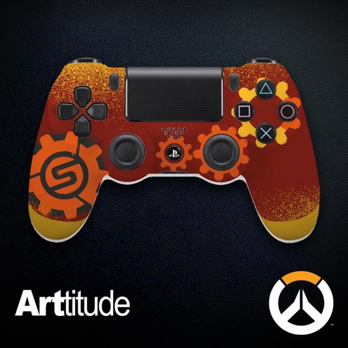 torbjorn custom overwatch controller arttitude blizzard ps4 playstation 4 xbox one