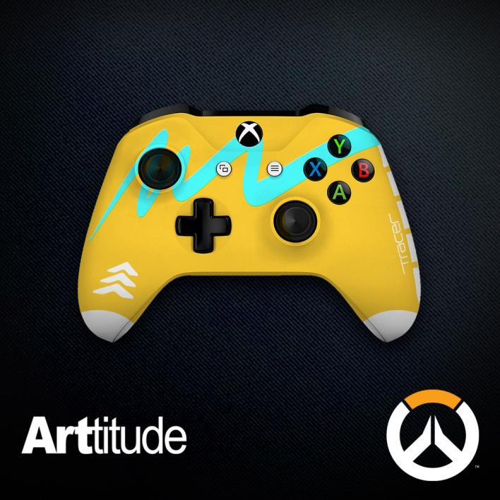 tracer custom overwatch controller arttitude blizzard ps4 playstation 4 xbox one