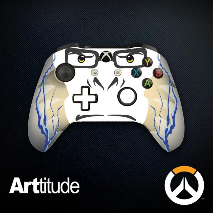 winston custom overwatch controller arttitude blizzard ps4 playstation 4 xbox one