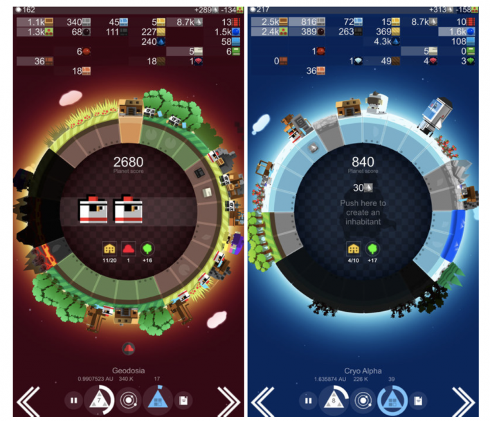 a planet of mine review iOS android 4x game strategy tips
