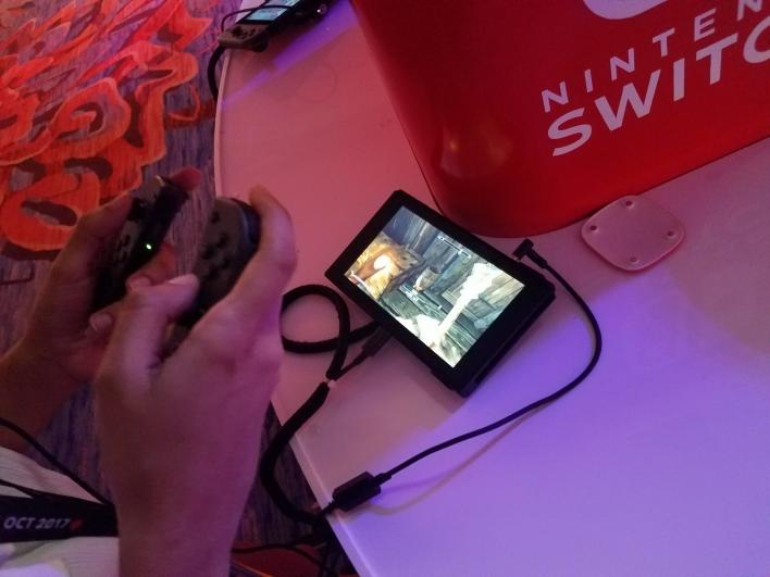 Skyrim For Nintendo Switch Changes Up Controls In A Good Way