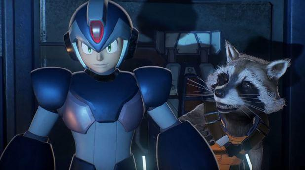 mega man x rocket raccoon marvel vs capcom infinite