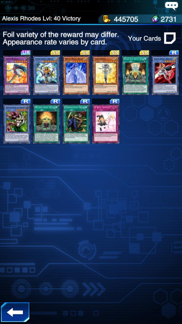 yu gi oh duel links cyber angel decks are tops player one