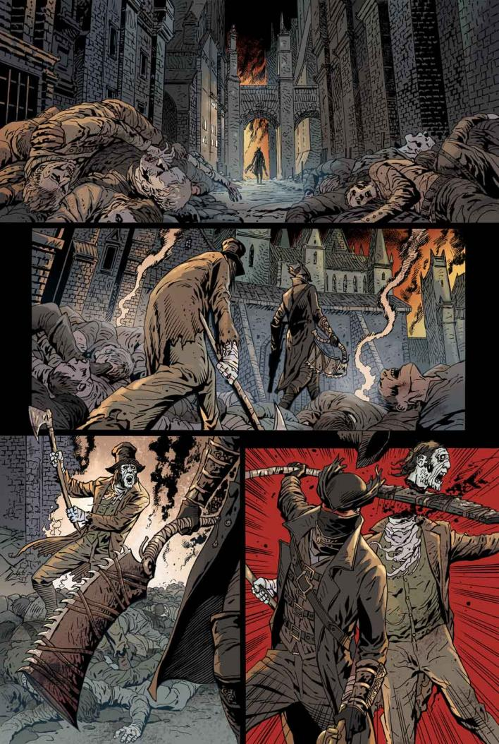 bloodborne comic page 1