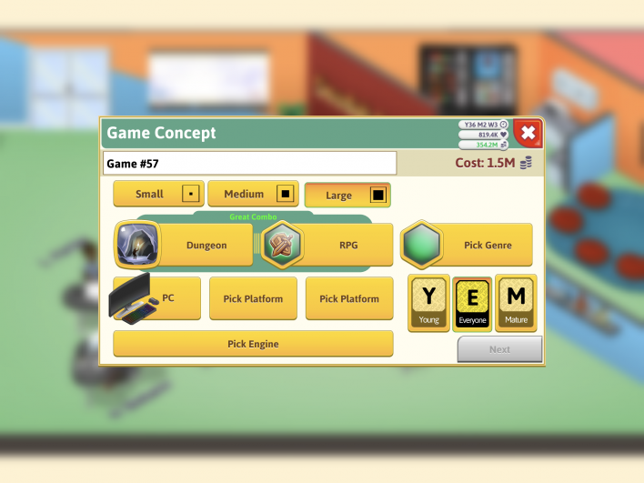 game, dev, tycoon, combos, great, good, complete, list, cheats, guide, genre, audience, topic