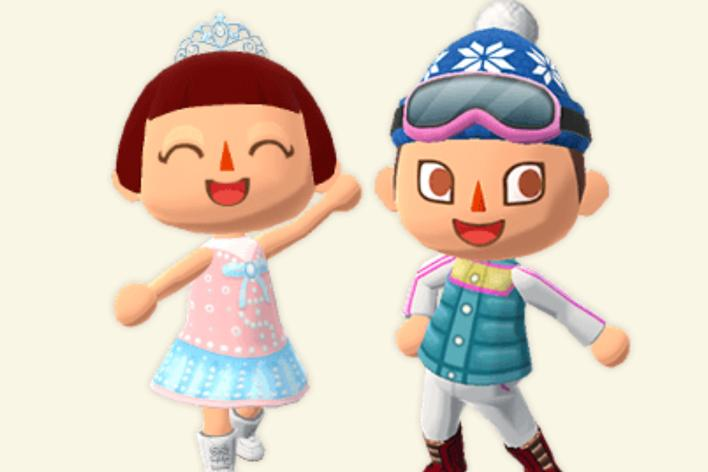 winter outfits animal crossing pocket camp