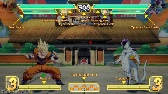 dragon ball fighterz battle screen