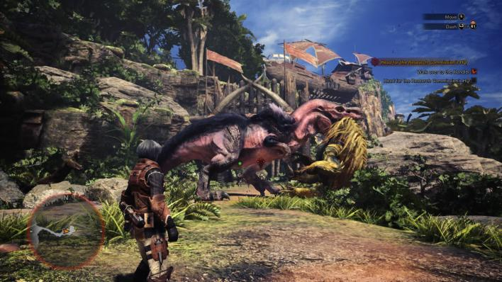 Monster Hunter: World - Anjanath Attack