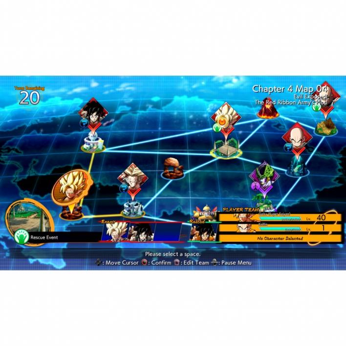 dragon ball fighterz story mode board