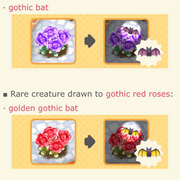 animal, crossing, pocket, camp, rose, festival, how, to, catch, bats, rare, creatures, guide, plant, seeds