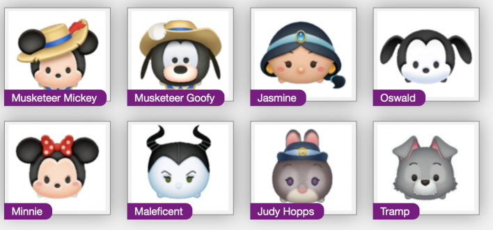 disney, tsum, tsum, sweetheart, event, black tsum tsum