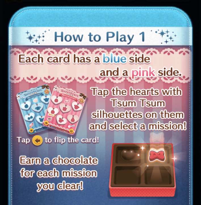 how to play disney tsum tsum sweetheart event start time rewards cards