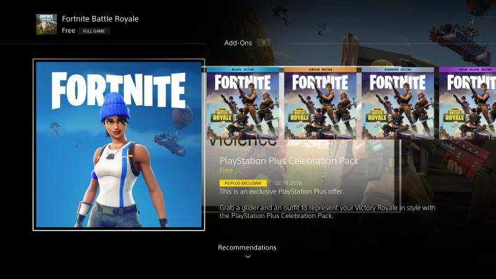 Fortnite PS Plus Celebration Pack PS Store