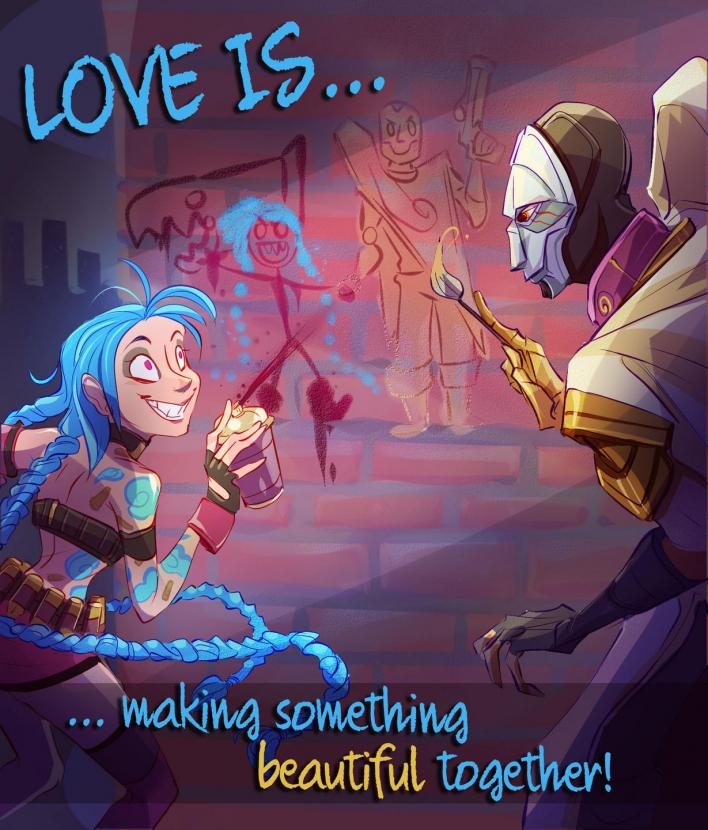 League Of Legends Valentine's Day Cards For The Rakan To Your Xayah |  Player.One