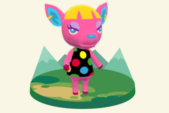 Fushia animal crossing pocket camp