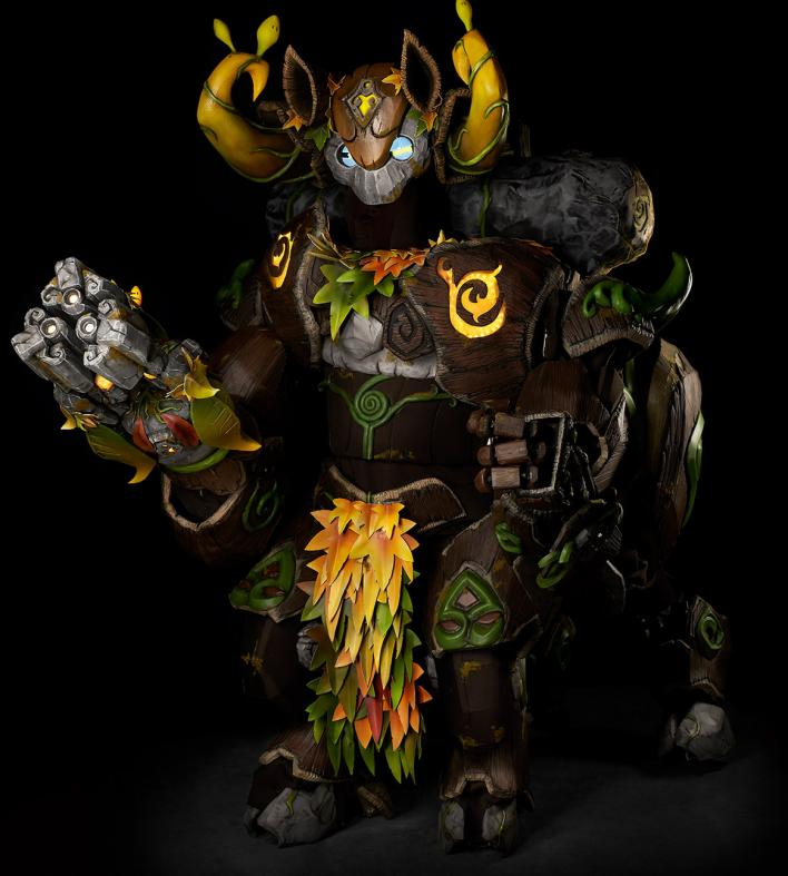 Overwatch Cosplay Battle Orisa Forest Skin