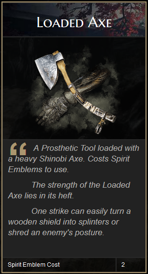 Sekiro Loaded Axe