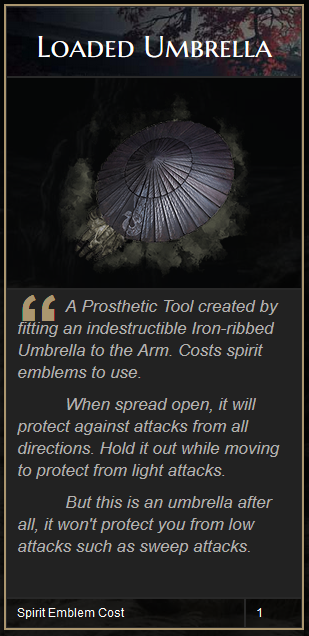 Sekiro Loaded Umbrella