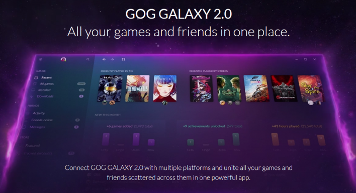 GOG Announces GOG Galaxy 2 0, The Last Game Launcher You'll