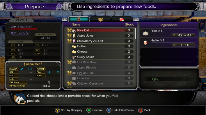 Bloodstained Food Bonus