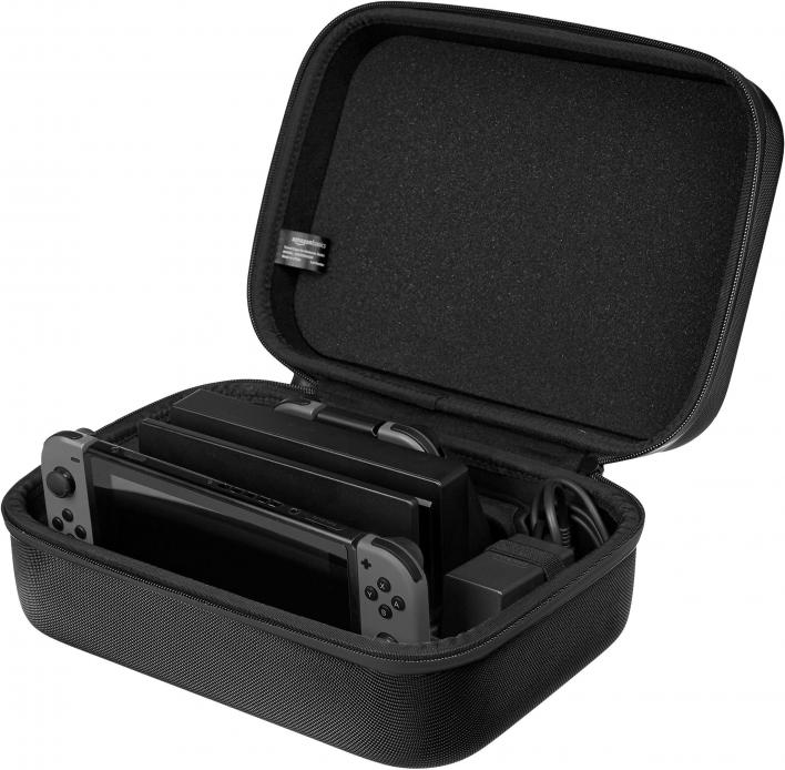 AmazonBasics Hard Shell Travel and Storage Case for Nintendo Switch