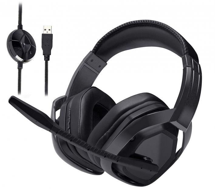 AmazonBasics USB Pro Gaming Headset with Microphone for PC