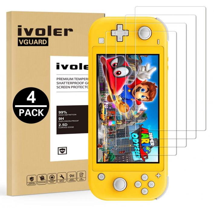 iVoler Transparent HD Clear Anti-Scratch Tempered Glass for the Nintendo Switch
