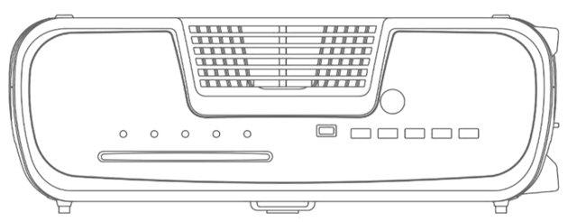 PS5 design patent front view
