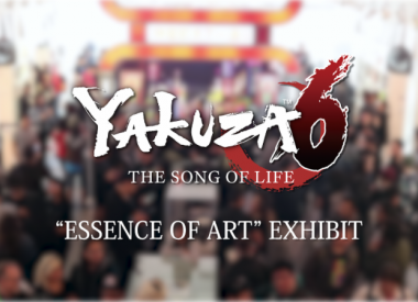 yakuza 6 exhibition title card cover
